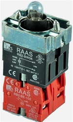 RB2-BW064-24...BODY ASSEMBLY FOR PUSH BUTTON & SELECTOR, 24AC/DC, NC+NC CONTACTS