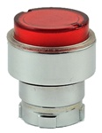 RB2-BW14...PROJECTING PUSH BUTTON, SPRING RETURN, FOR INCANDESCENT & LED BULBS, RED COLOR