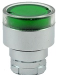 RB2-BW33...FLUSH PUSH BUTTON, SPRING RETURN, FOR INCANDESCENT & LED BULBS, GREEN COLOR