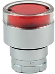 RB2-BW34...FLUSH PUSH BUTTON, SPRING RETURN, FOR INCANDESCENT & LED BULBS, RED COLOR
