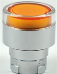 RB2-BW35...FLUSH PUSH BUTTON, SPRING RETURN, FOR INCANDESCENT & LED BULBS, AMBER COLOR