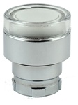 RB2-BW37...FLUSH PUSH BUTTON, SPRING RETURN, FOR INCANDESCENT & LED BULBS, CLEAR IN COLOR