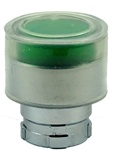 RB2-BW53...BOOTED TYPE FLUSH PUSH BUTTON, FOR INCANDESCENT & LED BULBS, GREEN COLOR
