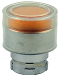 RB2-BW55...BOOTED TYPE FLUSH PUSH BUTTON, FOR INCANDESCENT & LED BULBS, AMBER COLOR
