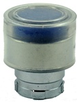 RB2-BW56...BOOTED TYPE FLUSH PUSH BUTTON, FOR INCANDESCENT & LED BULBS, BLUE COLOR