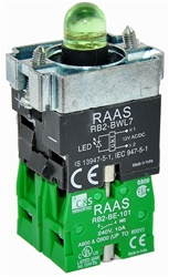 RB2-BWL733-110...BODY ASSEMBLY FOR PUSH BUTTON & SELECTOR, 110AC, WITH NO+NO CONTACTS, LED, GREEN COLOR