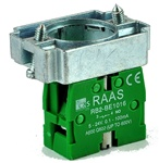 RB2-BZ1016...CONTACT BLOCK SWITCH,NORMALLY OPEN,GOLD FLASH TYPE WITH COLLAR