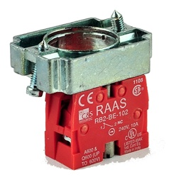 RB2-BZ102...CONTACT BLOCK SWITCH,NORMALLY CLOSED,STANDARD TYPE WITH COLLAR