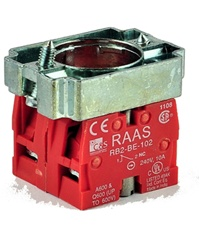 RB2-BZ104...CONTACT BLOCK SWITCHES,NORMALLY CLOSED+NORMALLY CLOSED,STANDARD TYPE WITH COLLAR
