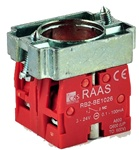 RB2-BZ1046...CONTACT BLOCK SWITCHES,NORMALLY CLOSED+NORMALLY CLOSED,GOLD FLASH TYPE WITH COLLAR