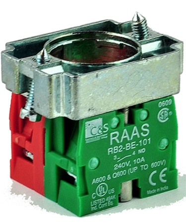 Normally Open Switch >> Rb2 Bz105 Contact Block Switches Normally Open Normally Closed
