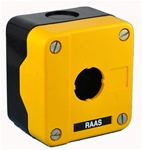 RC-1PYELLOW...1 STATION PLASTIC CONTROL  ENCLOSURE-YELLOW