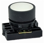 RCP2-BA1...FLUSH PLASTIC PUSH BUTTON, SPRING RETURN, NON-ILLUMINATED, WITH CARRIER, WHITE COLOR