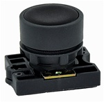 RCP2-BA2...FLUSH PLASTIC PUSH BUTTON, SPRING RETURN, NON-ILLUMINATED, WITH CARRIER, BLACK COLOR