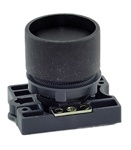RCP2-BA26...GUARDED (RECESS) PLASTIC PUSH BUTTON, SPRING RETURN, BLACK COLOR WITH FIXING COLLAR