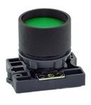 RCP2-BA36...GUARDED (RECESS) PLASTIC PUSH BUTTON, SPRING RETURN, GREEN COLOR WITH FIXING COLLAR