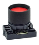 RCP2-BA46...GUARDED (RECESS) PLASTIC PUSH BUTTON, SPRING RETURN, RED COLOR WITH FIXING COLLAR