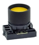 RCP2-BA56...GUARDED (RECESS) PLASTIC PUSH BUTTON, SPRING RETURN, YELLOW COLOR WITH FIXING COLLAR