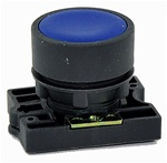 RCP2-BA6...FLUSH PLASTIC PUSH BUTTON, SPRING RETURN, NON-ILLUMINATED, WITH CARRIER, BLUE COLOR