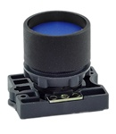RCP2-BA66...GUARDED (RECESS) PLASTIC PUSH BUTTON, SPRING RETURN, BLUE COLOR WITH FIXING COLLAR
