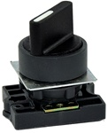 RCP2-BD3...PLASTIC  SELECTOR SWITCH ACTUATOR WITH CARRIER, STAY-PUT TYPE, STANDARD HANDLE, 3 POSITION