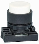 RCP2-BL1...PROJECTING PLASTIC PUSH BUTTON WITH CARRIER, NON-ILLUMINATED, WHITE COLOR