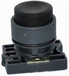 RCP2-BL2...PROJECTING PLASTIC PUSH BUTTON WITH CARRIER, NON-ILLUMINATED, BLACK COLOR