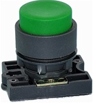 RCP2-BL3...PROJECTING PLASTIC PUSH BUTTON WITH CARRIER, NON-ILLUMINATED, GREEN COLOR