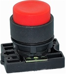 RCP2-BL4...PROJECTING PLASTIC PUSH BUTTON WITH CARRIER, NON-ILLUMINATED, RED COLOR