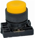 RCP2-BL5...PROJECTING PLASTIC PUSH BUTTON WITH CARRIER, NON-ILLUMINATED, YELLOW COLOR