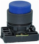 RCP2-BL6...PROJECTING PLASTIC PUSH BUTTON WITH CARRIER, NON-ILLUMINATED, BLUE COLOR