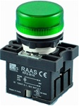 RCP2-BV63-12...PILOT LAMP,  12AC/DC, PLASTIC, GREEN COLOR