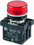 RCP2-BV64-12...PILOT LAMP,  12AC/DC, PLASTIC, RED COLOR
