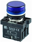 RCP2-BV66-110...PILOT LAMP,  110AC, PLASTIC, BLUE COLOR