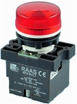 RCP2-BVL74-240...LED TYPE PILOT LAMP - 240AC, PLASTIC (INTEGRAL CKT & CLUSTER TYPE), RED COLOR