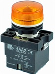 RCP2-BVL75-24...LED TYPE PILOT LAMP - 24AC/DC, PLASTIC (INTEGRAL CKT & CLUSTER TYPE), AMBER COLOR