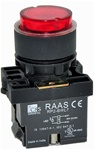 RCP2-BWL147-240...PROJECTING ILLUMINATED PUSH BUTTON ACTUATOR-240AC, LED TYPE, PLASTIC BODY, RED COLOR