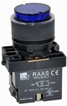 RCP2-BWL167-240...PROJECTING ILLUMINATED PUSH BUTTON ACTUATOR-240AC, LED TYPE, PLASTIC BODY, BLUE COLOR
