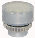 RM2-BA18...FLUSH METAL PUSH BUTTON, SPRING RETURN WITH TRANSPARENT BOOT, WHITE COLOR