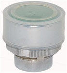 RM2-BA38...FLUSH METAL PUSH BUTTON, SPRING RETURN WITH TRANSPARENT BOOT, GREEN COLOR