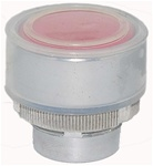 RM2-BA48...FLUSH METAL PUSH BUTTON, SPRING RETURN WITH TRANSPARENT BOOT, RED COLOR