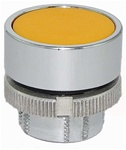 RM2-BA5...FLUSH METAL PUSH BUTTON, SPRING RETURN, YELLOW COLOR