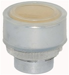 RM2-BA58...FLUSH METAL PUSH BUTTON, SPRING RETURN WITH TRANSPARENT BOOT, YELLOW COLOR