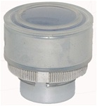 RM2-BA68...FLUSH METAL PUSH BUTTON, SPRING RETURN WITH TRANSPARENT BOOT, BLUE COLOR