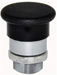 RM2-BC2...MUSHROOM HEAD METAL PUSH BUTTON, SPRING RETURN TYPE, 40MM, BLACK COLOR
