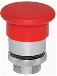 RM2-BC4...MUSHROOM HEAD METAL PUSH BUTTON, SPRING RETURN, 40MM, RED COLOR