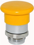 RM2-BC5...MUSHROOM HEAD METAL PUSH BUTTON, SPRING RETURN, 40MM, YELLOW COLOR
