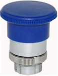 RM2-BC6...MUSHROOM HEAD METAL PUSH BUTTON, SPRING RETURN, 40MM, BLUE COLOR