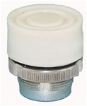 RM2-BP1...BOOTED METAL PUSH BUTTON, SPRING RETURN, WHITE COLOR