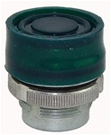 RM2-BP3...BOOTED METAL PUSH BUTTON, SPRING RETURN, GREEN COLOR